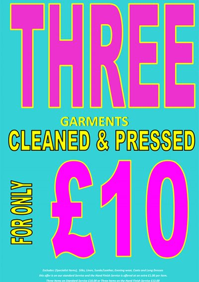 3 Garments For £10 march 2018 poster 2